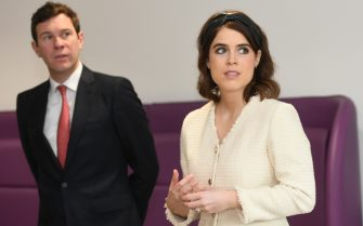 File photo dated 21/3/2019 of Princess Eugenie and Jack Brooksbank. Princess Eugenie gave birth to a son at 8.55am on Tuesday at The Portland Hospital in central London, Buckingham Palace said. Issue date: Tuesday February 9, 2021.