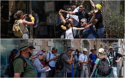 Covid, Israele toglie obbligo di mascherine all'aperto. FOTO