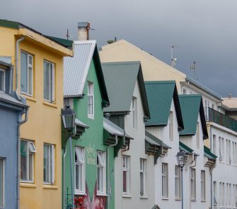 epa06058165 A general view of a residential buildings in Reykjavik, Iceland, 26 June 2017 (issued 30 June 2017). Reports state Reykjavik has been experiencing housing troubles during the past months, with the economy growing fast in the wake of the economic crash of 2008, leaving many young people unable to buy or rent small and medium sized apartments due to housing shortages. The problem is most apparent in Reykjavik where many apartments are rented to tourists and where housing prices have climbed. The city council has responded by starting a number of  construction projects all across the city. According to Knight Frank, Icelandic house prices have climbed some 17.8 per cent from March 2016 to March 2017.  EPA/BIRGIR THOR HARDARSON