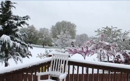 Ohio, inusuale nevicata primaverile. VIDEO