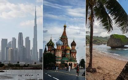 Covid: dalla Russia a Dubai, i Paesi che offrono il vaccino ai turisti