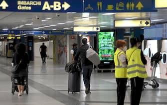 Arrivi in aeroporto a Linate