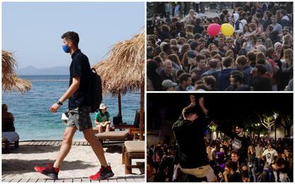 Covid, Spagna e Belgio tolgono il coprifuoco. Spiagge aperte in Grecia