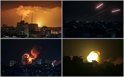 Israele colpisce torri civili di Gaza, Hamas lancia razzi su Tel Aviv
