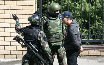 KAZAN, RUSSIA – MAY 11, 2021: FSB officers school No 175 where two attackers opened fire; at least one teacher and eight students are reported dead. Yegor Aleyev/TASS/Sipa USA