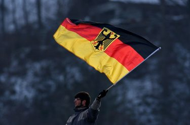GARMISCH-PARTENKIRCHEN, GERMANY - JANUARY 01: A Germany fan is seen during the FIS Ski Jumping World Cup at the 57th Four Hills Ski Jumping Tournament on January 1, 2009 in Garmisch-Partenkirchen, Germany.  (Photo by Vladimir Rys/Bongarts/Getty Images)