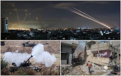 Razzi su Tel Aviv, distrutti edifici Gaza. Israele valuta una tregua