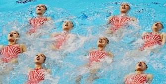 Swimming- 18th FINAWorldSwimmingChampionships - Women's Team Technical Preliminary - Yeomju Gymnasium, Gwangju, South Korea - July 14, 2019. Team China competes. REUTERS/Evgenia Novozhenina