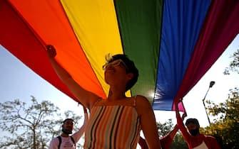 Un momento di un Gay Pride in India