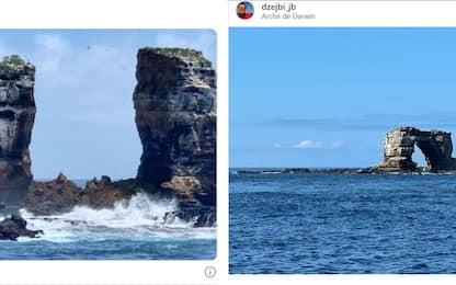 Galápagos, crolla l'arco di roccia dedicato a Charles Darwin