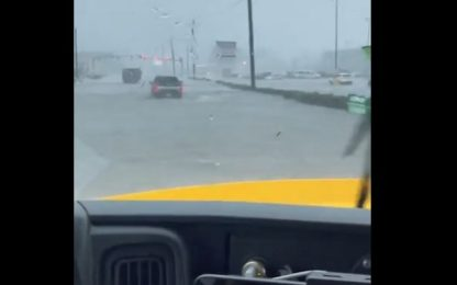 Inondazione in Louisiana, le strade diventano fiumi
