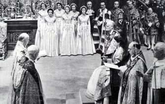 The coronation of Elizabeth II of the United Kingdom, took place on 2 June 1953 at Westminster Abbey, London. (Photo by: Universal History Archive/Universal Images Group via Getty Images)