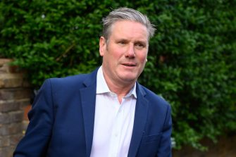 LONDON, ENGLAND - MAY 12: Labour Party leader Keir Starmer leaves his home, ahead of the weekly PMQs session, on May 12, 2021 in London, England. The Labour Party lost a number of traditionally-held seats in last week's local elections, leading to a reshuffle of the shadow cabinet. (Photo by Leon Neal/Getty Images)