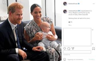 Gli auguri via Instagram di Carlo e Camilla a Harry e Meghan per la nascita di Lilibet