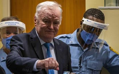 Bosnia, confermata in appello la condanna all'ergastolo per Mladic