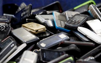 epa08876606 Discarded mobile phones are collected for recycling at the electronic waste recycling plant of Total Environmental Solutions (TES) in Bang Pa-in Industrial Estate, Ayutthaya province, Thailand, 03 July 2020 (issued 11 December 2020). Thailand is among the world's worst countries in terms of electric waste (e-waste) volume after it exceeded 621,000 metric tonnes in 2019. The amount of hazardous material found in e-waste has been increasing dramatically during the years. Thailand has announced a ban on the import of electronic waste. The country will also promote investment for waste disposal and recycling plants to properly operate on e-waste management.  EPA/RUNGROJ YONGRIT ATTENTION: This Image is part of a PHOTO SET