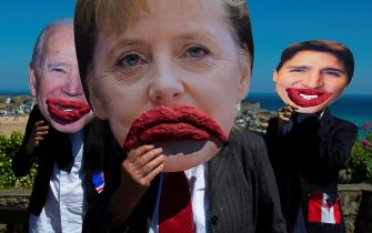 Protesta attivisti per l'ambiente G7 Cornovaglia