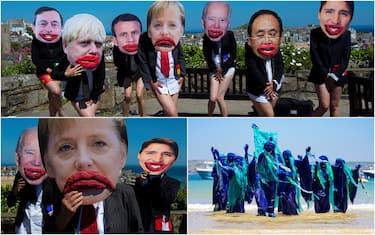 La protesta degli attivisti per l'ambiente al G7