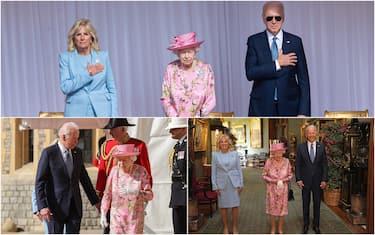 L'incontro tra i Biden e la regina Elisabetta