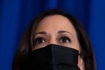 US Vice President Kamala Harris speaks to the press after her bilateral meeting with Mexican President Andrés Manuel López Obrador in Mexico City, on June 8, 2021. - The trip is part of the Biden administration's promise to implement a more humane immigration policy after the hardline approach taken by his predecessor Donald Trump. (Photo by JIM WATSON / AFP) (Photo by JIM WATSON/AFP via Getty Images)