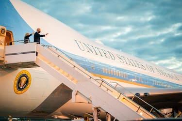 Joe and Jill Biden arrive in the UK