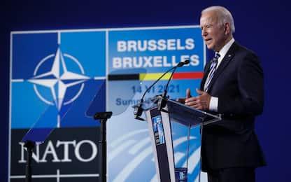 """Vertice Nato, Biden: """"Dirò a Putin che ci sono linee da non superare"""""""