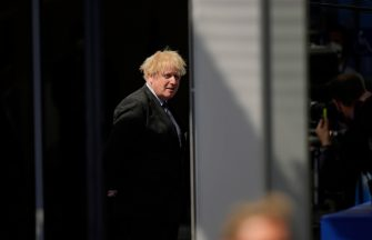 epa09269503 British Prime Minister Boris Johnson arrives for a NATO summit at the North Atlantic Treaty Organization (NATO) headquarters in Brussels, Belgium, 14 June 2021. The 30-nation alliance hopes to reaffirm its unity and discuss increasingly tense relations with China and Russia, as the organization pulls its troops out after 18 years in Afghanistan.  EPA/FRANCISCO SECO / POOL