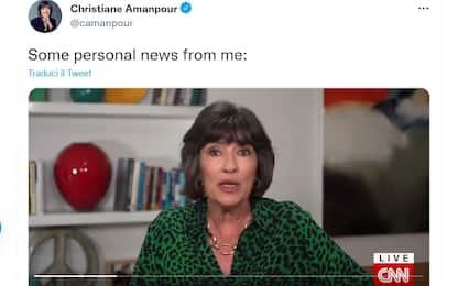 La giornalista Amanpour in diretta sulla Cnn: ho un cancro alle ovaie