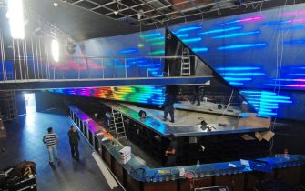 epa02401712 An interior view of the Night Club Paradise in La Jonquera in north-eastern Spain, close to the French border, on 19 October 2010. The brothel, one of the biggest in Europe, will be inaugurated on 21 October after years of litigations and halts of the building works. La Jonquera city council is totally against the opening of such a establishment in the city. The club's owner, Jose Moreno, said that 150 women from Russia, Rumania, Poland and other countries of Eastern Europe, and also from Spain, will work on the premises.  EPA/ROBIN TOWNSEND