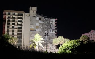 SURFSIDE, FLORIDA - JUNE 24:  A portion of the 12-story condo tower crumbled to the ground during a partial collapse of the building on June 24, 2021 in Surfside, Florida. It is unknown at this time how many people were injured as search-and-rescue effort continues with rescue crews from across Miami-Dade and Broward counties. (Photo by Joe Raedle/Getty Images)