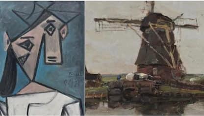 Grecia, ritrovati due quadri di Picasso e Mondrian rubati nel 2012