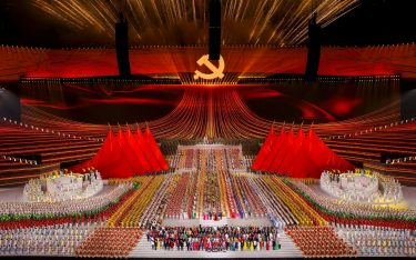 <<enter caption here>> at Birds Nest on June 28, 2021 in Beijing, China.