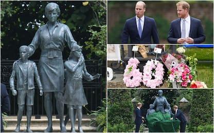 Lady Diana: William e Harry scoprono la statua dedicata alla madre