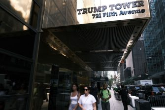 NEW YORK, NEW YORK - JUNE 30: Trump Tower, home to the Trump Organization, stands along Fifth Avenue on June 30, 2021 in New York City. According to reports, federal prosecutors with the Manhattan district attorney's office are expected to charge the Trump Organization, and its CFO Allen Weisselberg, with tax-related crimes as soon as Thursday.  (Photo by Spencer Platt/Getty Images)