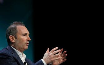 Andrew Jassy, chief executive officer of web services for Amazon.com Inc., speaks during the 2019 CERAWeek by IHS Markit conference in Houston, Texas, U.S., on Monday, March 11, 2019. The program provides comprehensive insight into the global and regional energy future by addressing key issues from markets and geopolitics to technology, project costs, energy and the environment, finance, operational excellence and cyber risks. Photographer: Aaron M. Sprecher/Bloomberg