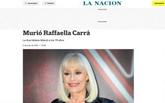 Raffaella Carrà è morta: la notizia sui siti di tutto il mondo tra cui La Nacion