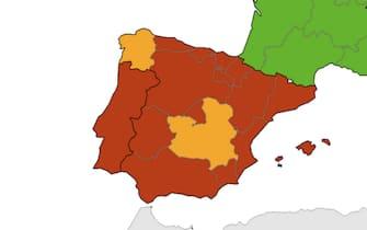 Mappa Spagna e Portogallo