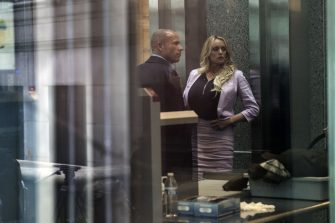 FILE: Adult-film actress Stormy Daniels and attorney Michael Avenatti arrive at Federal Court in New York, U.S., on Monday, April 16, 2018. Sunday, January 20, 2019, marks the second anniversary of U.S. President Donald Trump's inauguration. Our editors select the best archive images looking back over Trumps second year in office. Photographer: Victor J. Blue/Bloomberg via Getty Images