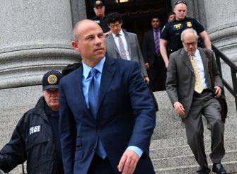Michael Avenatti, attorney and founding partner of Eagan Avenatti LP, second left, exits from federal court in New York, U.S., on Tuesday, May 28, 2019. Avenattipleaded not guilty to charges that he misappropriated thousands of dollars from his most famous client, adult-film star Stormy Daniels, as the embattled attorney's legal troubles pile up from coast to coast. Avenatti was arrested in New York in March and charged with extorting millions of dollars from Nike Inc. Photographer: Louis Lanzano/Bloomberg via Getty Images