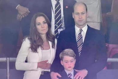 Europei 2020, la delusione del principe William, Kate e George