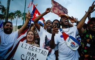 Le manifestazioni pro-Cuba a Miami