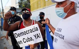 Le manifestazioni pro-Cuba a Madrid
