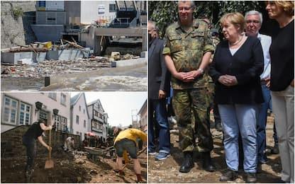 """Maltempo, si scava in Belgio e Germania. Merkel: """"Immagini spettrali"""""""