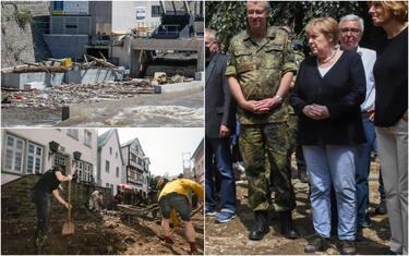 I danni del maltempo in Belgio e Germania