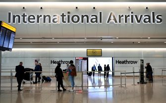 epa09175532 Travellers arrive at Heathrow Airport in London, Britain, 03 May 2021. Holidays abroad are set to resume on 17 May if the governments road map for lockdown easing continues. A cross party group of MP's however are recommending that foreign holidays should be discouraged due to the threat of Covid-19 variants which could cause a third wave in the UK.  EPA/ANDY RAIN