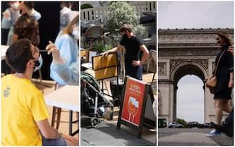 tampone, freedom day uk e gente a Parigi