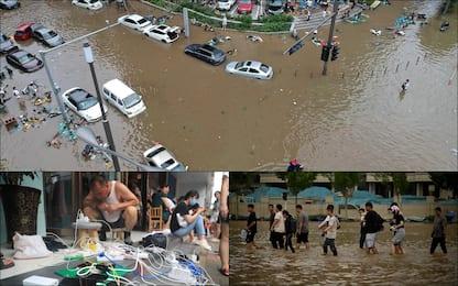 Cina, decine di vittime dopo l'alluvione a Zhengzhou. FOTO