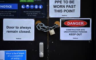 Un negozio chiuso a causa del lockdown a Sydney