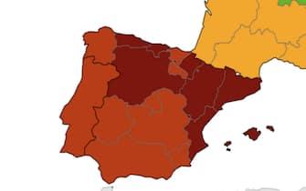 Spagna e Portogallo sono rosso e rosso scuro