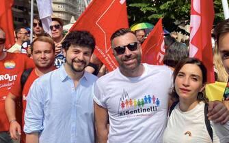 Alessandro Zan e Brando Benifei al Gay Pride di Budapest
